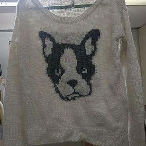 Non threatening knit sweater